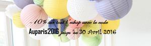 -10% de réduction sur tout l'eshop jusqu'au 30 Avril 2016