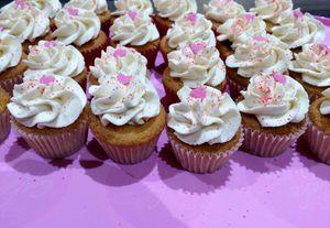 Mini cupcakes framboise chantilly