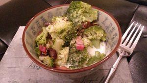 Brocolis-Lardons à la crème