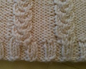 Un tricot qui ne roulotte pas en bas (1)