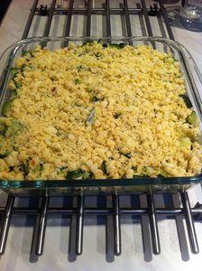 Crumble de courgettes au parmesan