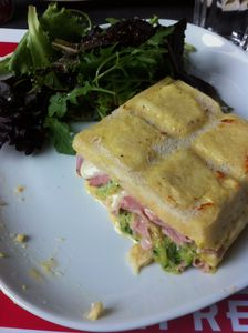 Croque tablette jambon/courgettes
