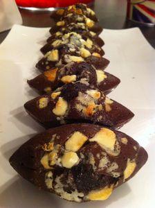 Fondants chocolat aux pépites de chocolat blanc