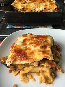Lasagnes à la ratatouille et fromage de chèvre