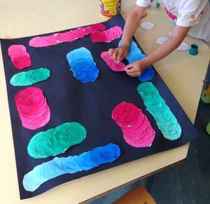Décloisonnement Vasarely (école maternelle Saint Roch / exposition des écoles de Biot)