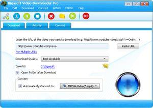 Bigasoft Video Downloader Pro v.3.11.2.5924 + Keygen Pour Tous les produits Bigasoft