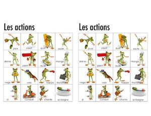 memory verbes action grenouille