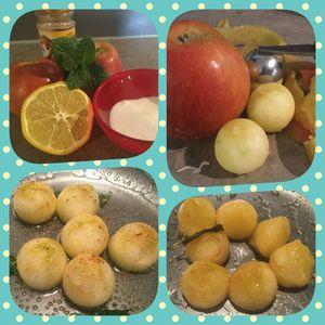 La préparation des pommes