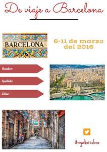 La libreta del viaje a Barcelona