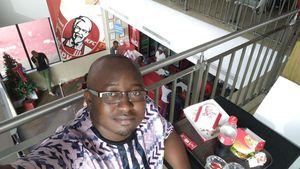 Déjeuner à KFC à Accra