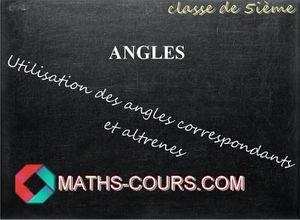 cours de maths cinquième angles
