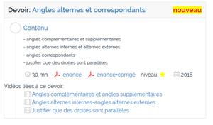 angles alternes et correspondants