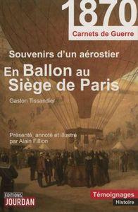 En ballon au siège de Paris (Editions Jourdan)