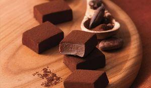 Món Nama chocolate trông thật hấp dẫn