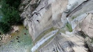 CANYONING IN CORSICA.