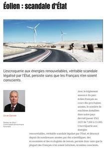 Éolien : scandale d'État