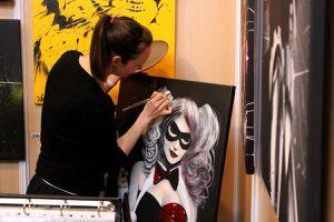 Harley Quinn en peinture