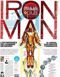 Affiche Iron man fut en Espagnol