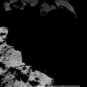 Point de vue de la comète 67P