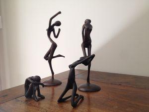 Les statuettes fétiches de Patricia.
