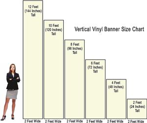 standard banner stand size