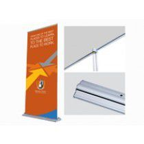 Retractable banner stand display