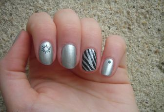 Nail Art Tout En Stickers !