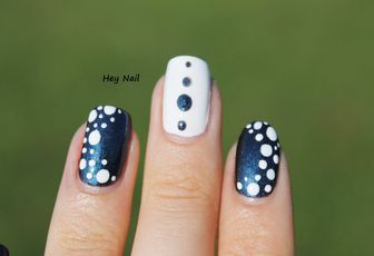 Nail Art Nuage de Points