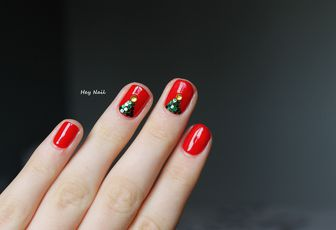 Nail Art Sapins Brillants