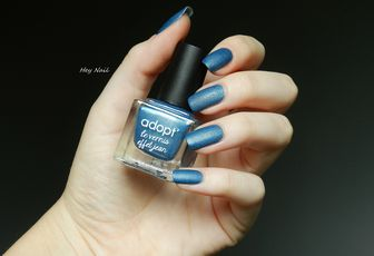 Adopt' Le Vernis Effet Jean - N°121 Blue Boyfriend