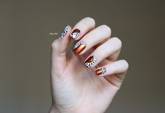 Nail Art Taches Abstraites