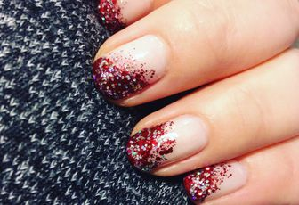 Nail Art inspiration justaucorps de gymnaste