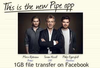 Pipe: envoyez des fichiers de 1 Giga à vos amis depuis Facebook