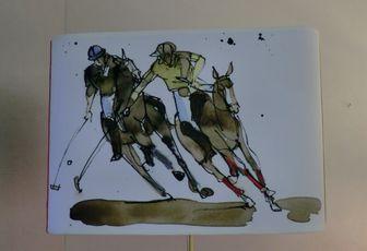 """Abat-jour """"Scène de Polo"""" Exclusive"""
