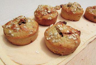 Muffins aux flocons d'avoine et aux fruits secs