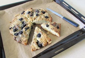 Blueberry Scones ou scones aux myrtilles