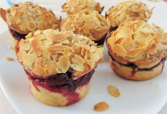 Muffin framboise & amandes
