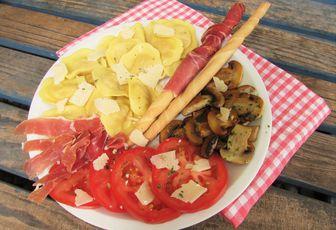 Assiette complète à l'italienne