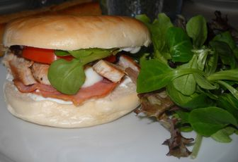 Bagels poulet-bacon