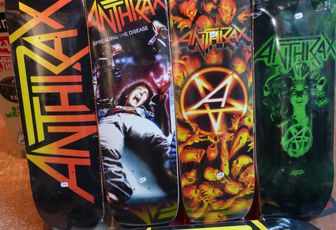 Anthrax Slayer Judas Priest Motörhead Official Skateboards