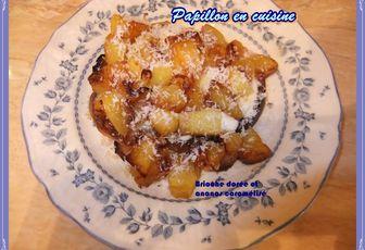 Recette : Brioche dorée et ananas caramélisé