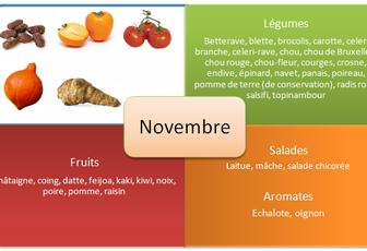 Légumes et Fruits du mois de Novembre