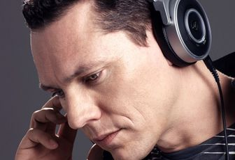 Photo: Tiësto and AKG headphones