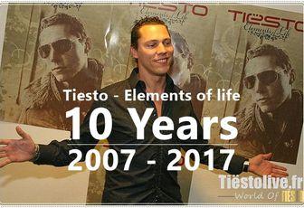 Tiesto Album, Elements of life | 10 Years !!! 2007 - 2017