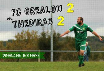 // 14ème journée > FC Gréalou 2-2 Thédirac