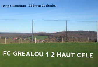 // Coupe Bondoux > 16ème de finale : Fin
