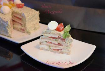 Sandwich cake tomate, mozzarella