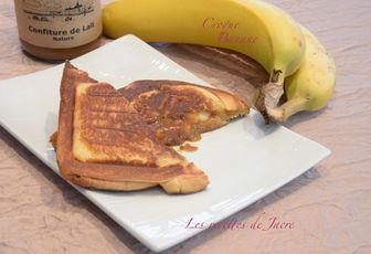 Croque banane et confiture de lait