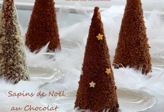 Sapins de Noël au Chocolat ou Cheese Cake ? .... ou les deux ?