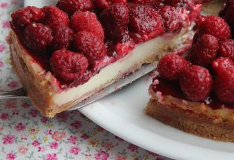 Cheesecake aux framboises, ultra rapide, ultra facile